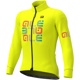 Alé Cycling Solid Mirror Winter Jersey Heren, fluo yellow